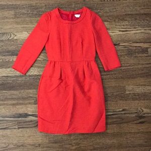 Jcrew Red Teddie Dress sz0p